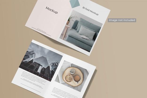 Maquete de brochura de dobra dupla