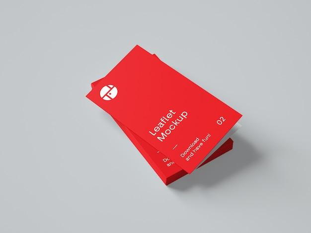 Maquete de brochura de duas dobras