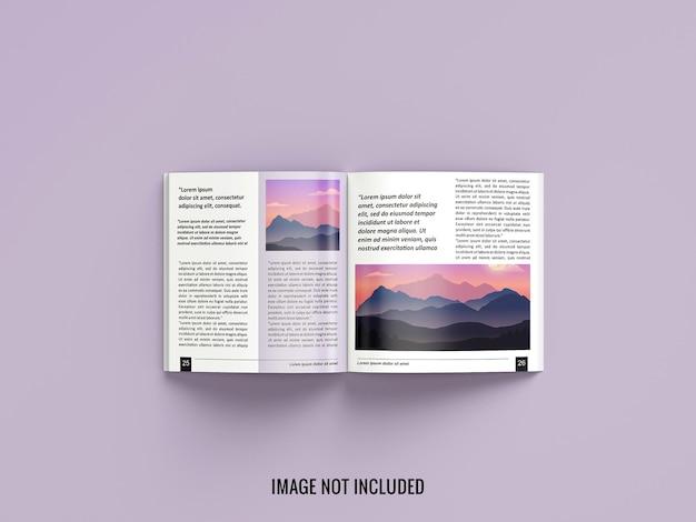 Maquete de brochura de encadernação quadrada