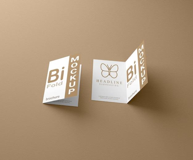 Maquete de brochura de luxo com duas dobras