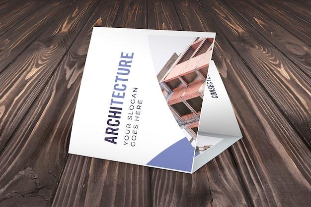 Maquete de brochura de negócios com três dobras