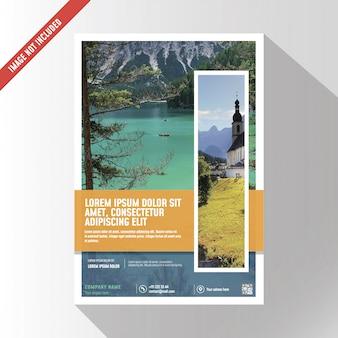Maquete de brochura de negócios criativos