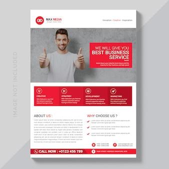 Maquete de brochura de negócios modernos