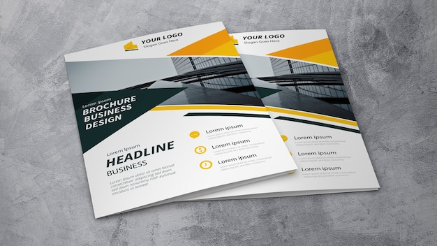 Maquete de brochura de negócios
