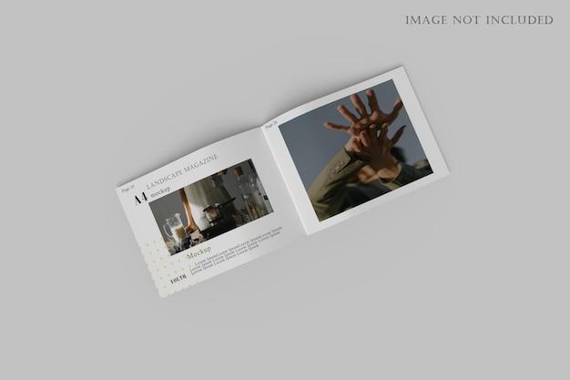 Maquete de brochura de paisagem a4