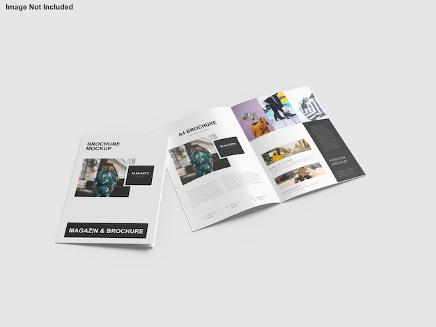 Maquete de brochura de portfólio de arquitetura