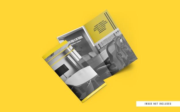 Maquete de brochura de tamanho dl com duas dobras
