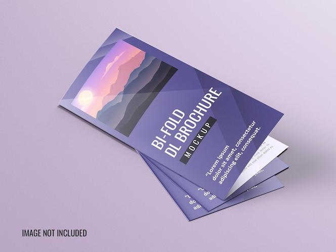Maquete de brochura dl bifold