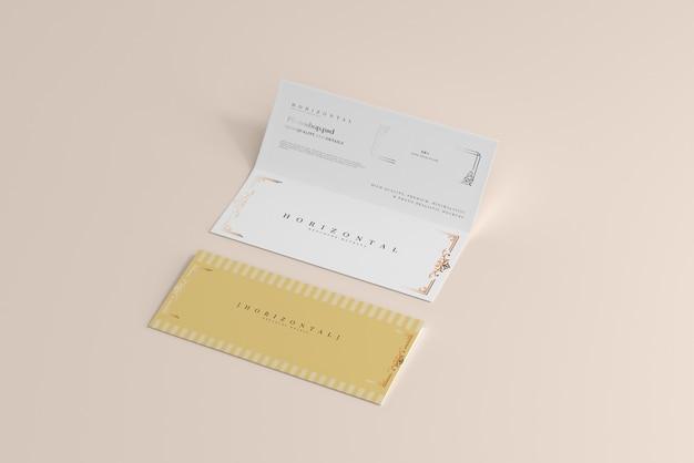 Maquete de brochura dl horizontal com dobra dupla