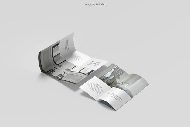 Maquete de brochura dupla