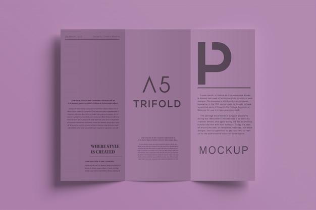 Maquete de brochura premium com três dobras