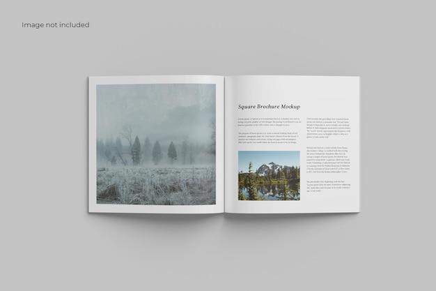 Maquete de brochura quadrada aberta