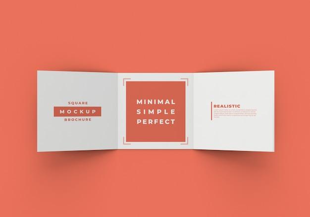 Maquete de brochura quadrada em três partes