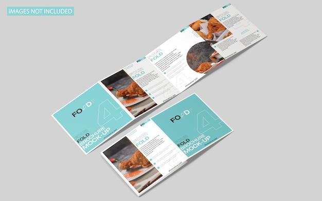 Maquete de brochura quadrada quadrada