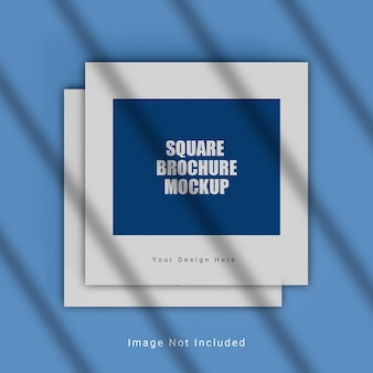 Maquete de brochura quadrada realista