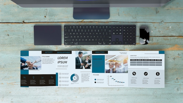 Maquete de brochura quadrada
