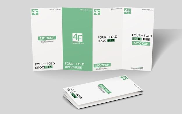 Maquete de brochura quadruplicada