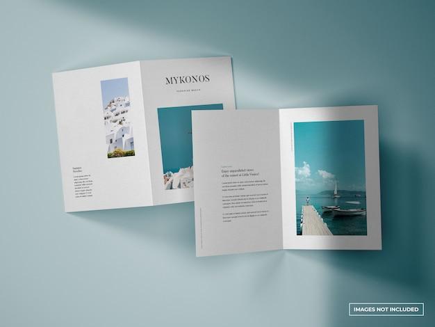 Maquete de brochura vertical dupla