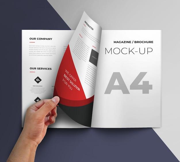 Maquete de brochura
