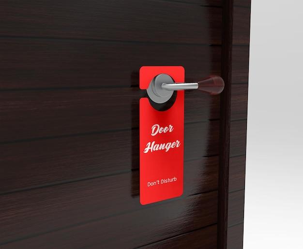 Maquete de cabide de porta realista Psd Premium