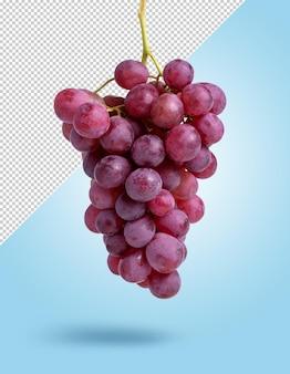 Maquete de cacho de uva vermelha pendurado em fundo editável