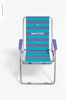 Maquete de cadeira de praia, vista frontal