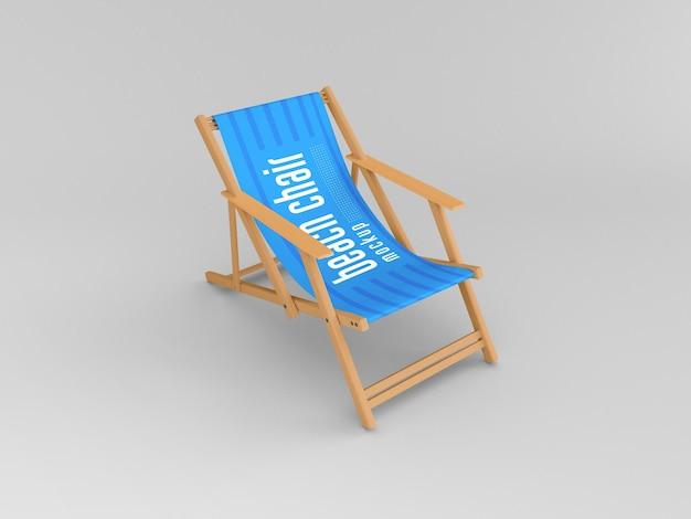 Maquete de cadeira de praia