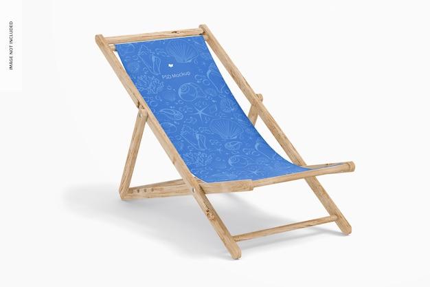 Maquete de cadeira dobrável de praia, vista direita