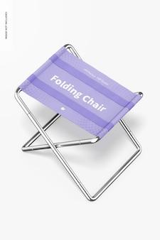 Maquete de cadeiras dobráveis, perspectiva