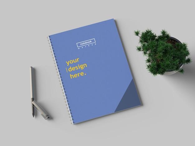 Maquete de caderno a4