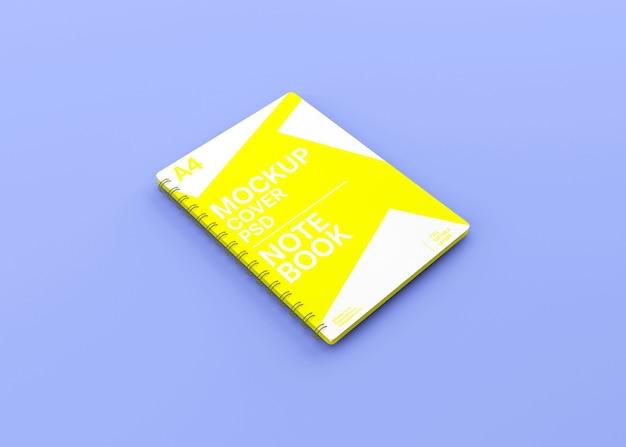 Maquete de caderno de capa dura espiral realista