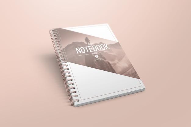 Maquete de caderno elegante