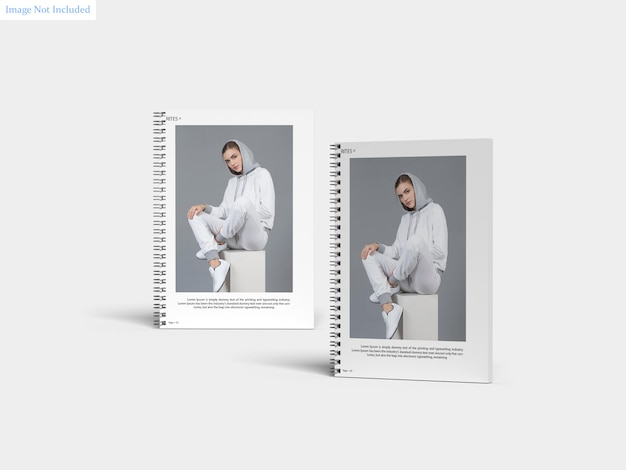 Maquete de caderno espiral a4
