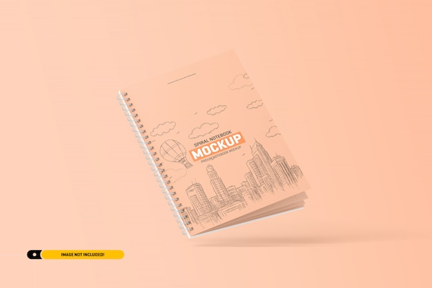 Maquete de caderno espiral
