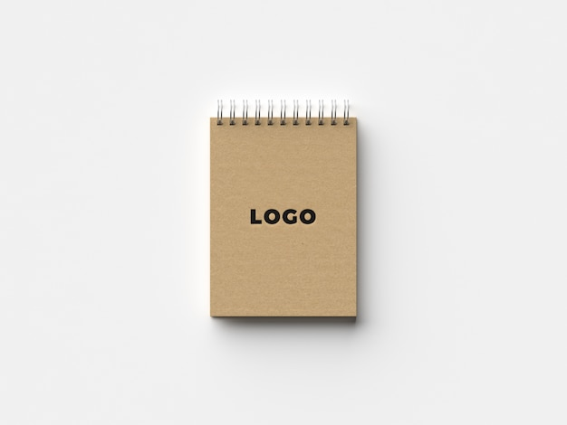 Maquete de caderno orgânico