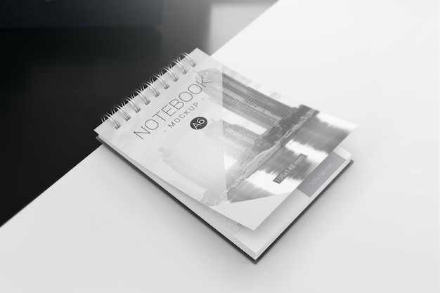 Maquete de caderno