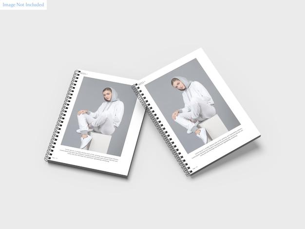 Maquete de cadernos de espiral a4