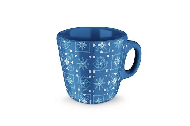 Maquete de café de porcelana 3d ou xícara de chá