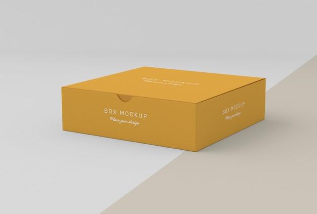 Maquete de caixa de armazenamento de papelão