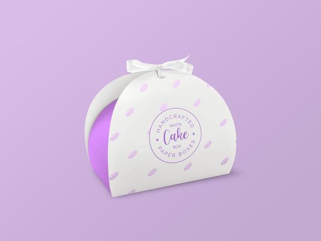 Maquete de caixa de bolo branco