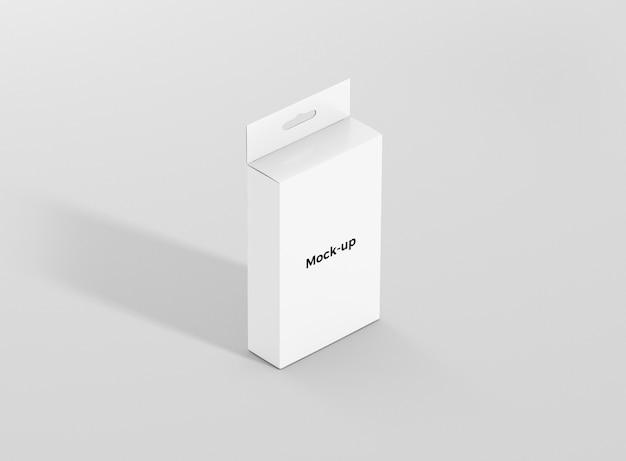 Maquete de caixa de cabide