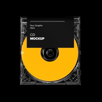 Maquete de caixa de cd transparente
