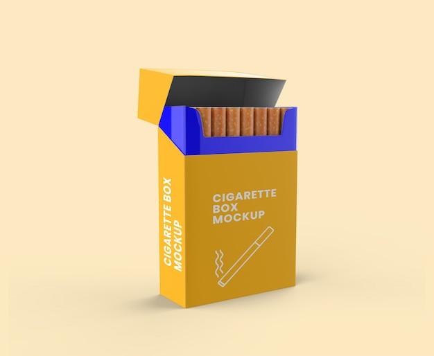 Maquete de caixa de cigarro