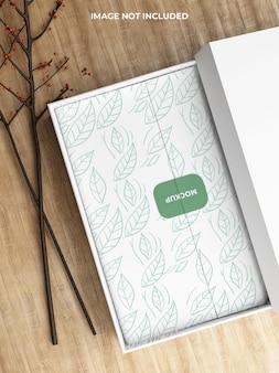 Maquete de caixa de comida Psd Premium