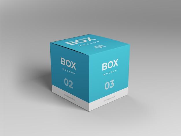 Maquete de caixa de cubo