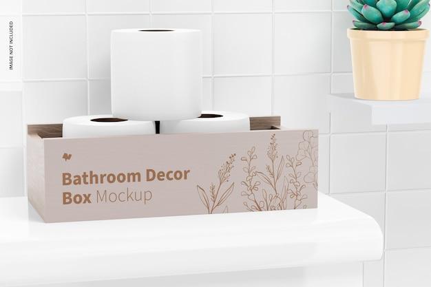 Maquete de caixa de decoração de banheiro 02