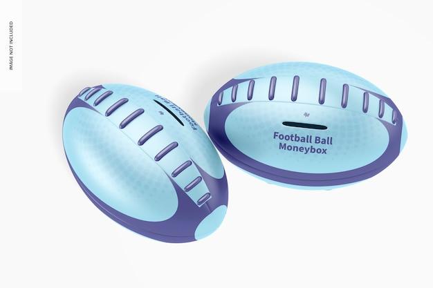 Maquete de caixa de dinheiro de bola de futebol de metal