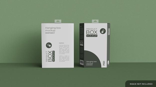 Maquete de caixa de dois produtos