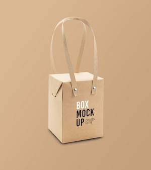 Maquete de caixa de embalagem de produto em branco