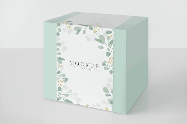Maquete de caixa de embalagem verde de hortelã